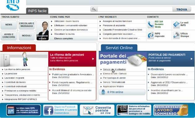 Come controllare contributi inps soldioggi for Inps on line accedi ai servizi
