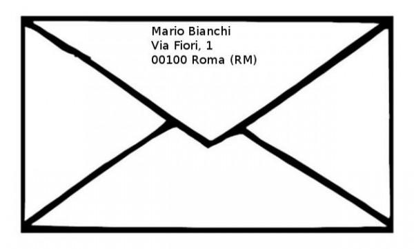Risultati immagini per busta da lettera mittente
