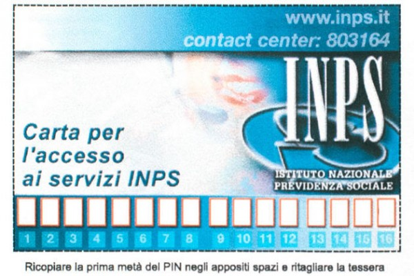 Convertire il PIN in PIN dispositivo - INPS - Home Page