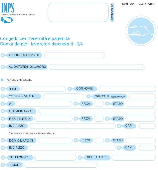 certificato gravidanza inps